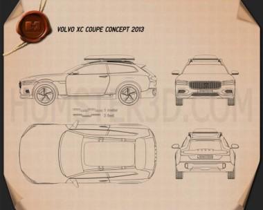 Volvo XC Coupe 2013 Blueprint
