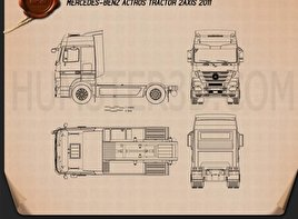 Mercedes-Benz Actros Tractor 2-axle 2011 Blueprint