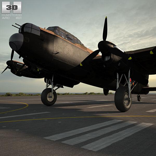 Avro Lancaster 3D model