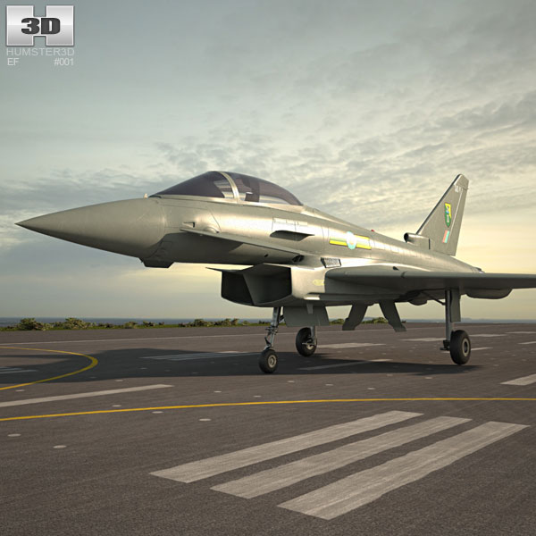 3D model of Eurofighter Typhoon