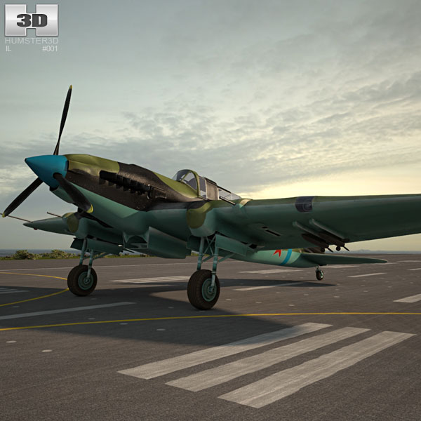 3D model of Ilyushin Il-2 Sturmovik