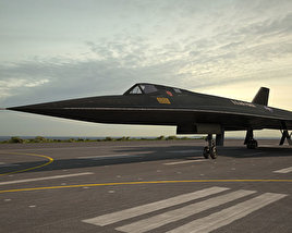 3D model of Lockheed SR-71 Blackbird
