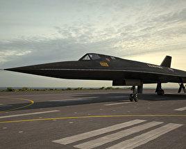 3D model of Lockheed SR-71 Blackbird