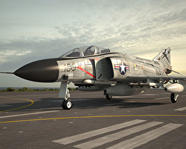 3D model of McDonnell Douglas F-4 Phantom II
