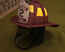 Firefighting Helmet 3D model
