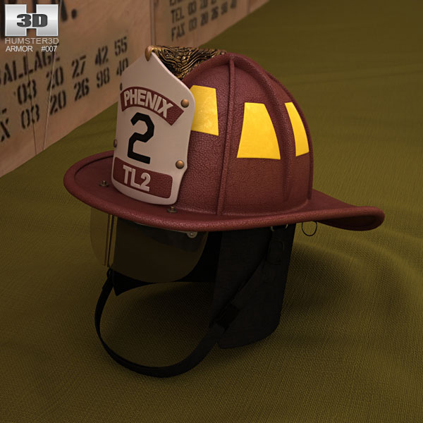 3D model of Firefighting Helmet