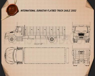 International DuraStar Flatbed Truck 2002 Blueprint