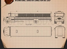 International Durastar Correction Bus 2007 Blueprint