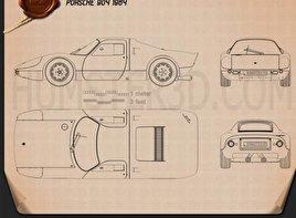 Porsche 904 1964 Blueprint