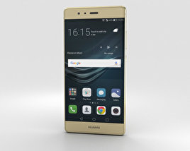3D model of Huawei P9 Haze Gold
