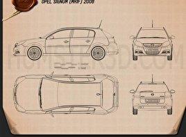 Opel Signum 2006 Blueprint