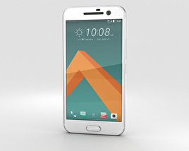 HTC 10 Glacier Silver (White Front) 3D model