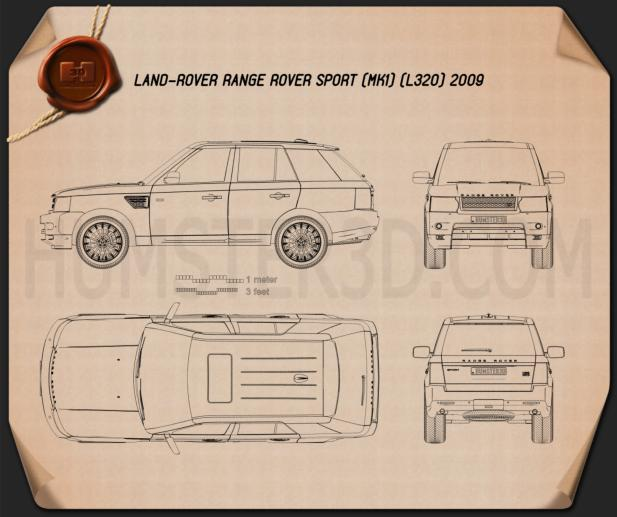 Land Rover Range Rover Sport 2009 Blueprint