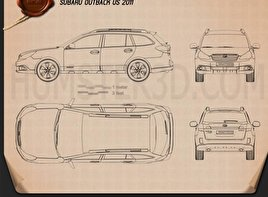 Subaru Outback US 2011 Blueprint