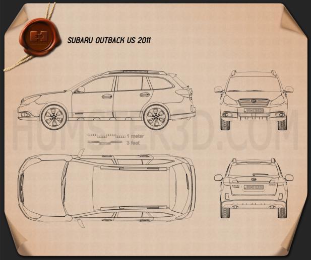Subaru Outback US 2011 Blueprint