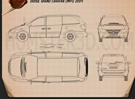Dodge Grand Caravan 2004 Blueprint