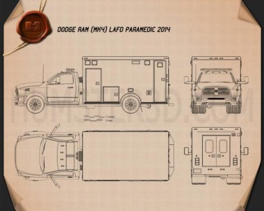 Dodge Ram LAFD Paramedic 2014 Blueprint