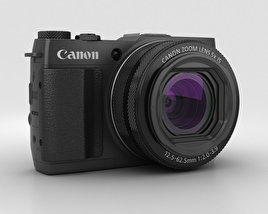 3D model of Canon PowerShot G1 X Mark II