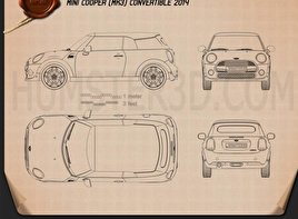 Mini Cooper convertible 2014 Blueprint