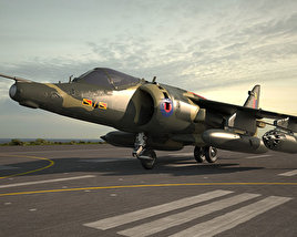 Hawker Siddeley Harrier 3D model