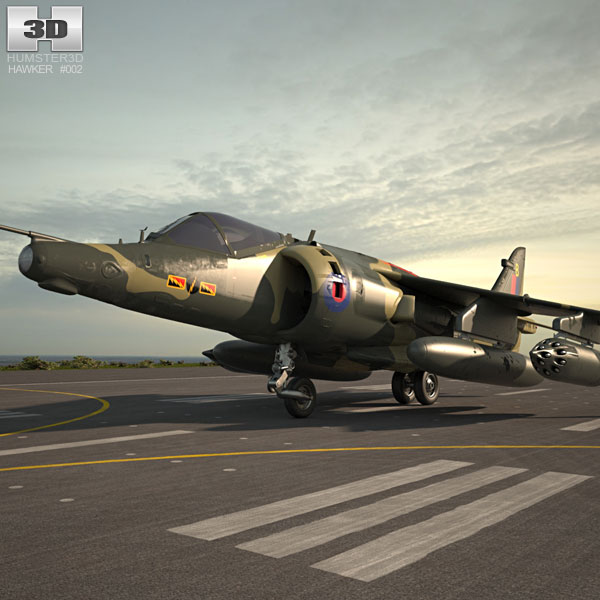 3D model of Hawker Siddeley Harrier
