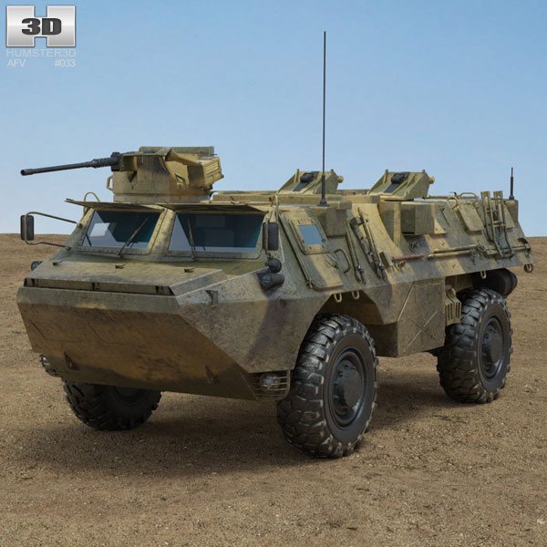 VAB Armoured Personnel Carrier 3D model