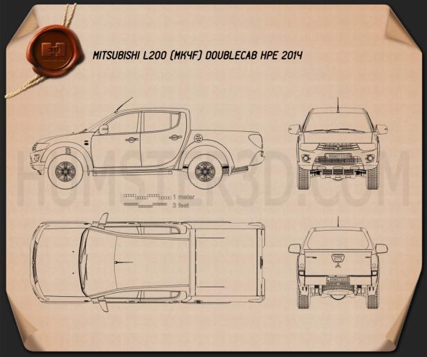 Mitsubishi L200 Triton Double Cab HPE 2014 Blueprint