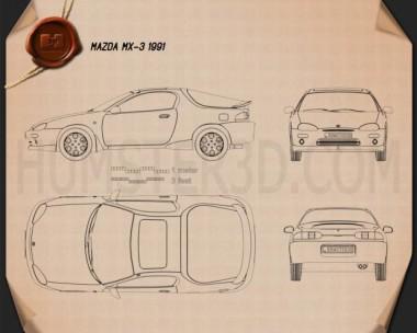 Mazda MX-3 1992 Blueprint