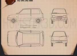 Lada Oka 1111 1989 Blueprint