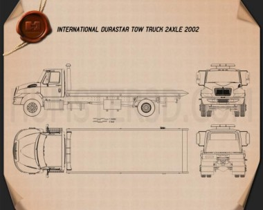 International DuraStar Tow Truck 2002 Blueprint