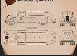 Dodge Airflow Tank Truck 1938 Blueprint