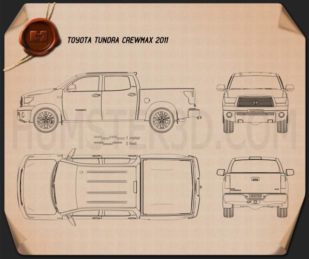 Toyota Tundra Crew Max 2011 設計図