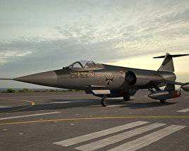 3D model of Lockheed F-104 Starfighter