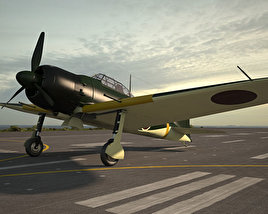 3D model of Mitsubishi A6M Zero