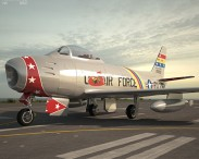 3D model of North American F-86 Sabre