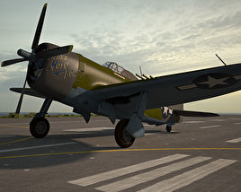 3D model of Republic P-47 Thunderbolt