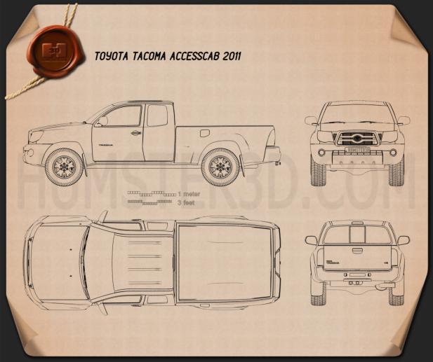Toyota Tacoma Access Cab 2011 Blueprint