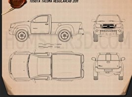 Toyota Tacoma Regular Cab 2011 Blueprint