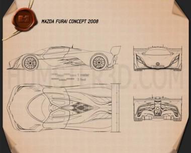 Mazda Furai 2008 Blueprint