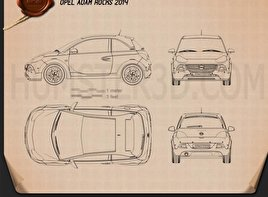 Opel Adam Rocks 2014 Blueprint