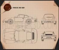 Porsche 959 1986 Blueprint