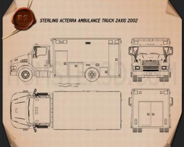 Sterling Acterra Ambulance Truck 2002 Blueprint