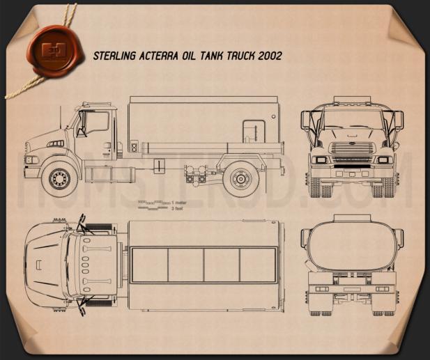 Sterling Acterra Oil Tank Truck 2002 Blueprint