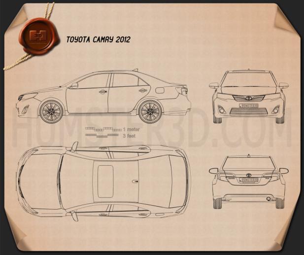 Toyota Camry 2012 US Version Blueprint