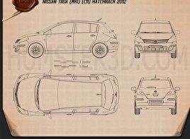 Nissan Tiida (C11) hatchback 2012 Blueprint