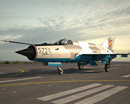 3D model of Mikoyan-Gurevich MiG-21
