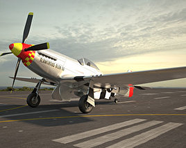 3D model of North American P-51 Mustang