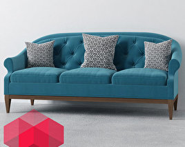 Sofa with three pillows
