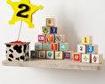 Wooden Toy Bricks Free 3D model