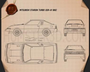 Mitsubishi Starion Turbo GSR III 1982 Blueprint